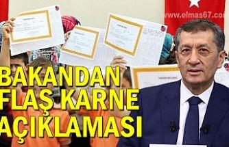 Milli Eğitim Bakanı Selçuk'tan flaş karne açıklaması
