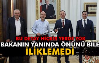 Süleyman Soylu'nun yanında lakayıt poz!