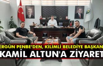 Ergün Penbe'den, Kilimli Belediye Başkanı Kamil Altun'a ziyaret