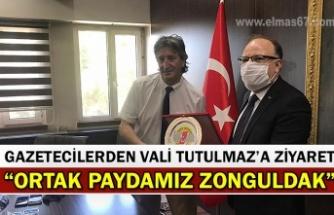 """Gazetecilerden Vali Tutulmaz'a ziyaret, """"Ortak paydamız Zonguldak"""""""