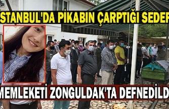 İstanbul'da pikabın çarptığı Sedef, memleketi Zonguldak'ta defnedildi