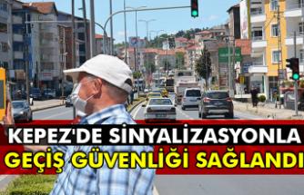 Kepez'de sinyalizasyonla geçiş güvenliği sağlandı