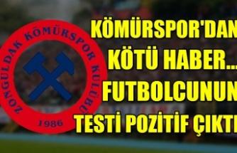 Kömürspor'dan kötü haber… Futbolcunun testi pozitif çıktı