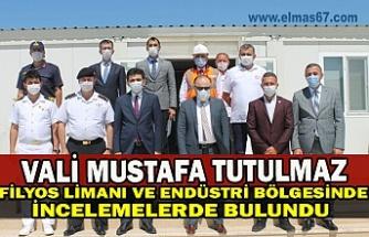Vali Mustafa Tutulmaz, Filyos Limanı ve Filyos Endüstri Bölgesinde İncelemelerde Bulundu