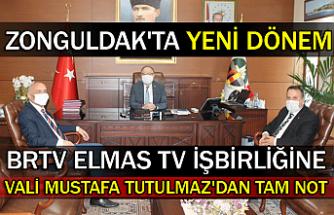 Zonguldak'ta yeni dönem. BRTV Elmas TV işbirliğine  Vali Mustafa Tutulmaz'dan tam not