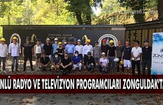 Ünlü radyo ve televizyon programcıları Zonguldak'ta.