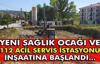 Yeni Sağlık Ocağı ve 112 Acil Servis istasyonu inşaatına başlandı...