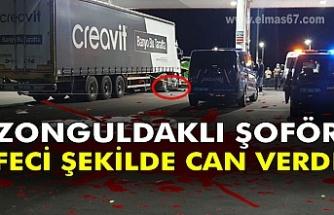 Zonguldaklı şoför feci şekilde can verdi