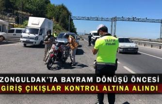 Zonguldak'ta bayram dönüşü öncesi giriş çıkışlar kontrol altına alındı