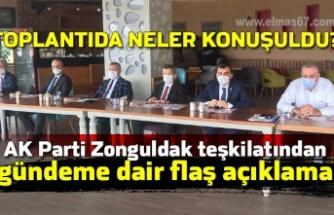 AK Parti Zonguldak Teşkilatından gündeme dair flaş açıklama... Toplantıda neler konuşuldu?