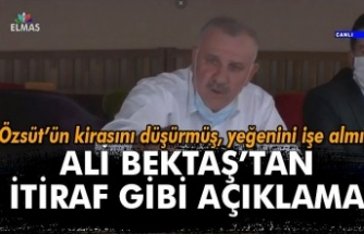 Ali Bektaş'tan itiraf gibi açıklama...