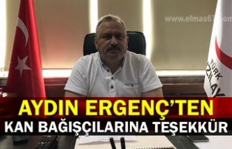 Aydın Ergenç'ten kan bağışçılarına teşekkür