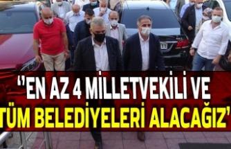"""Bozkurt """"En az 4 milletvekili ve tüm belediyeleri alacağız"""""""