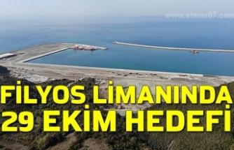 Filyos Limanında 29 Ekim hedefi
