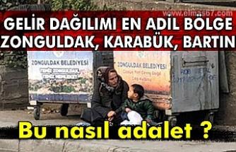 """Gelir dağılımı en adil bölge """"Zonguldak, Karabük, Bartın"""" Bu nasıl adalet ?"""