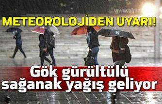 Meteorolojiden uyarı! Gök gürültülü sağanak yağış geliyor