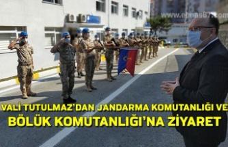 Vali Tutulmaz'dan Jandarma komutanlığı ve Bölük Komutanlığı'na ziyaret