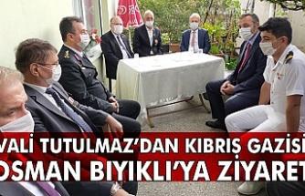 Vali tutulmaz'dan Kıbrıs gazisi Osman Bıyıklı'ya ziyaret