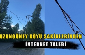 Uzungüney köyü sakinlerinden 'internet' talebi