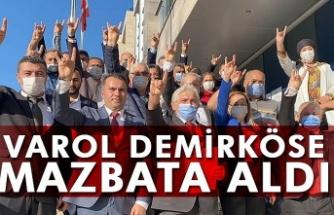 Varol Demirköse mazbata aldı