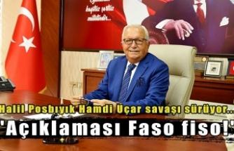 """Halil Posbıyık Hamdi Uçar savaşı sürüyor... """"Açıklaması Faso fiso!"""""""