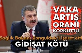 Sağlık Bakanı Zonguldak'ı işaret etti.
