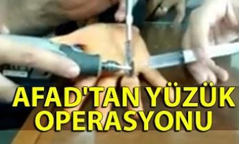 AFAD'tan yüzük operasyonu