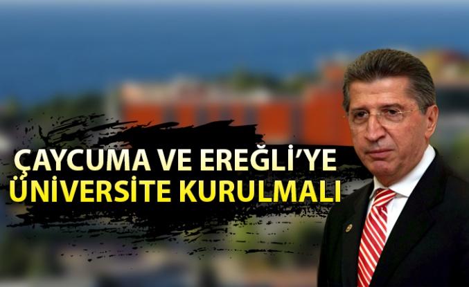 Köksal Toptan: ''Çaycuma ve Ereğli'ye üniversite kurulmalı!''