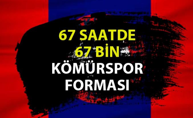 67 saatte, 67 bin Kömürspor forması satmak istiyorlar