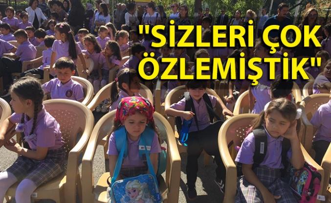 """Vali Erdoğan öğrencilere seslendi: """"Sizleri çok özlemiştik"""""""