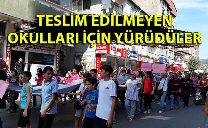 Zonguldak'ta 'Okulumuzu teslim edin' yürüyüşü