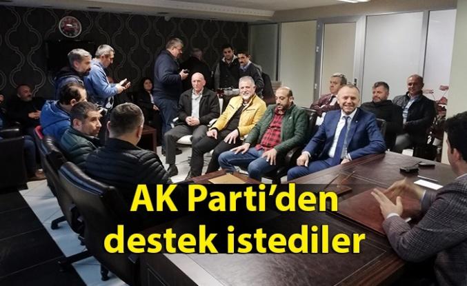AK Parti'den destek istediler