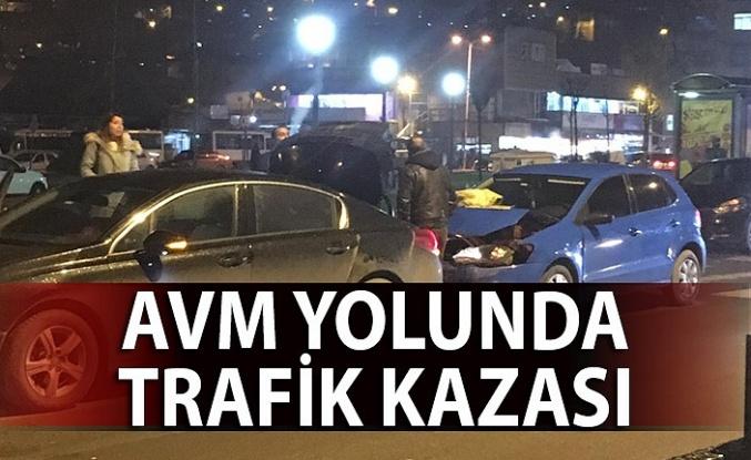 AVM yolunda trafik kazası!