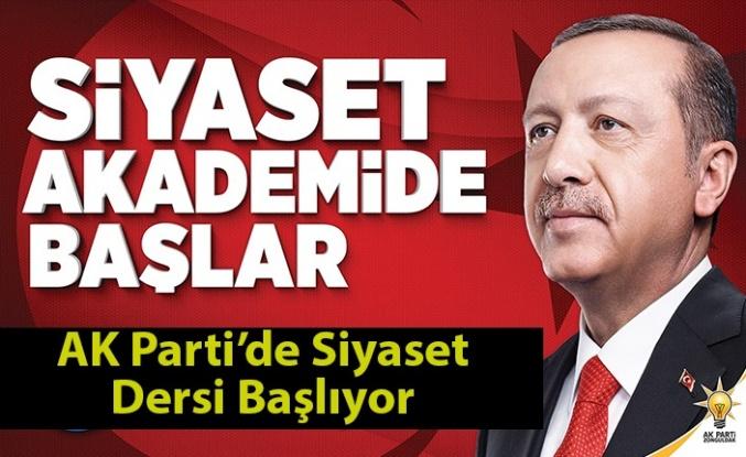 AK Parti'de Siyaset Dersi Başlıyor