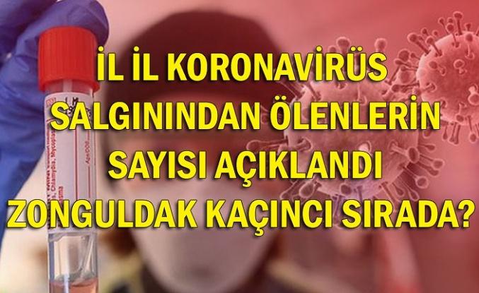 İl il koronavirüs salgınından ölenlerin sayısı açıklandı Zonguldak kaçıncı sırada?