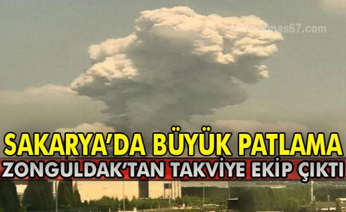 Sakarya'da büyük patlama: Zonguldak'tan takviye ekip çıktı