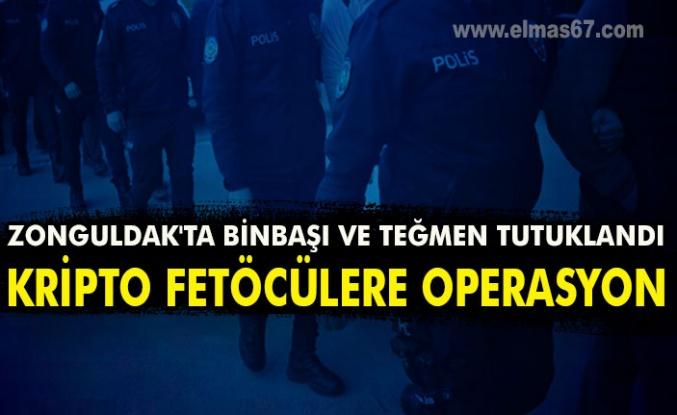 Zonguldak'ta binbaşı ve teğmen tutuklandı  kripto fetöcülere operasyon