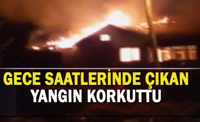 Gece saatlerinde çıkan yangın korkuttu