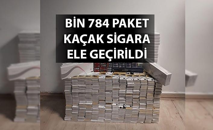 Bin 784 paket kaçak sigara ele geçirildi