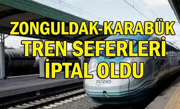 Zonguldak-Karabük tren seferleri iptal oldu