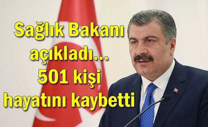 Sağlık Bakanı açıkladı... 501 kişi hayatını kaybetti
