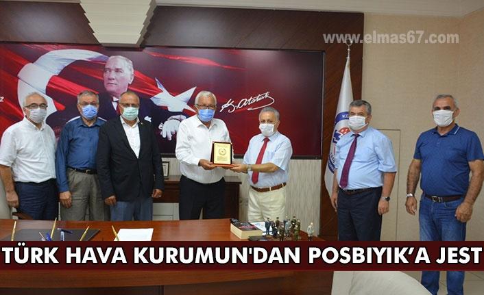 Türk Hava Kurumun'dan  Posbıyık'a jest...