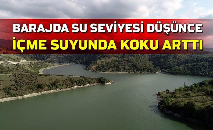 Barajda su seviyesi düşünce içme suyunda koku arttı
