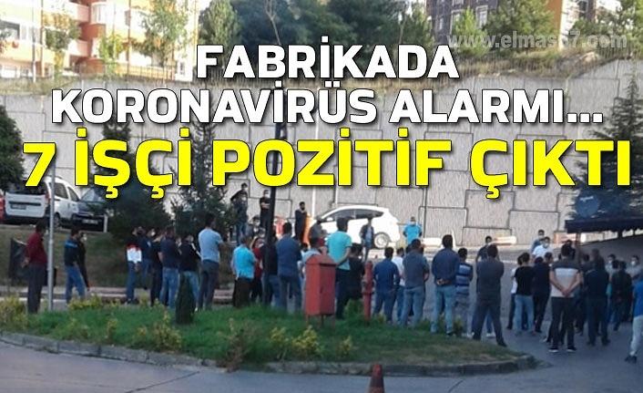 Fabrikada Koronavirüs alarmı... 7 işçi pozitif çıktı