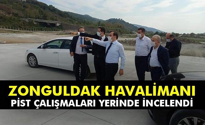 Zonguldak Havalimanı pist çalışmaları yerinde incelendi