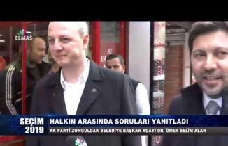 Ak Parti Bld. Bşk. Adayı Dr. Ömer Selim Alan halkın arasında soruları yanıtladı...