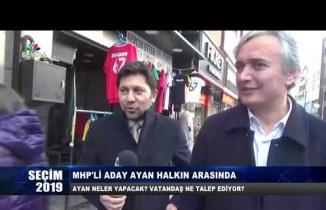 MHP'li Hamdi Ayan halkın arasında...