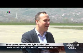Zonguldak Havaalanı için tarihi gün... Elmas TV oradaydı...